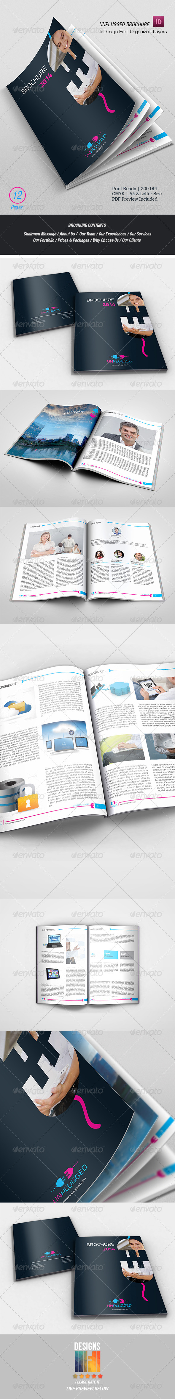 GraphicRiver UnPlugged Multipurpose Brochure 8551236
