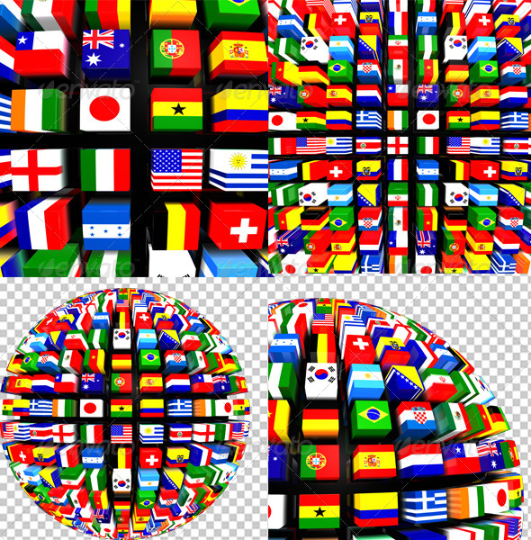 GraphicRiver World Flags Globe Pack 8551284
