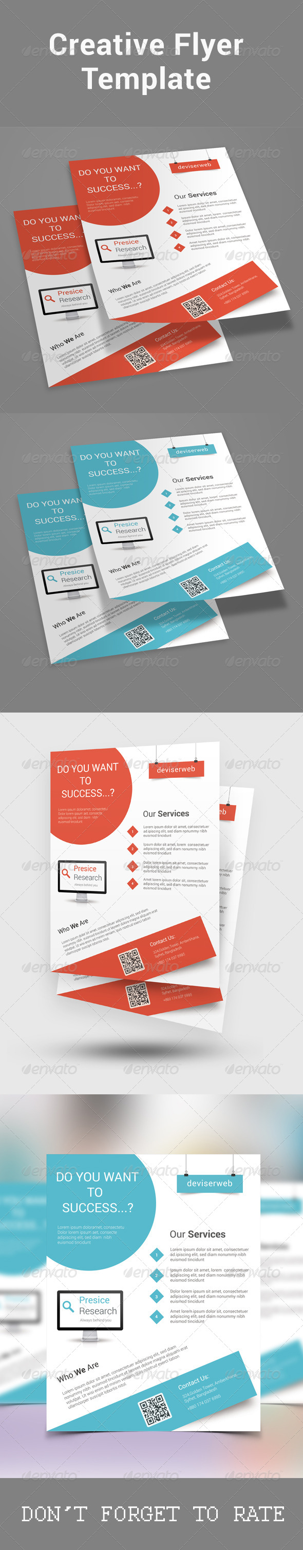 GraphicRiver Modern Creative Flyer Template 8551291