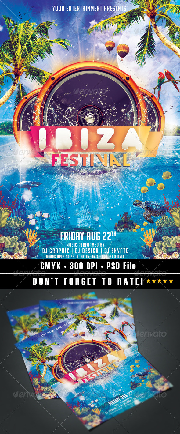GraphicRiver Ibiza Festival Flyer 8551374