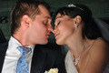 just married couple is kissing in car - PhotoDune Item for Sale