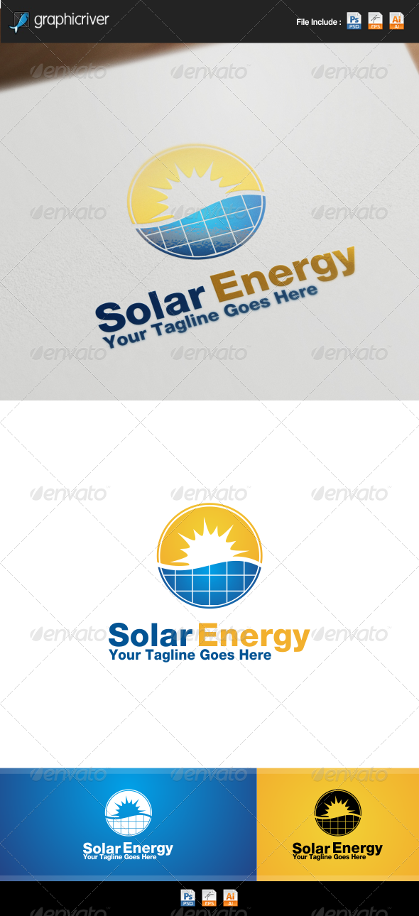 GraphicRiver Solar Energy Logo 8551621