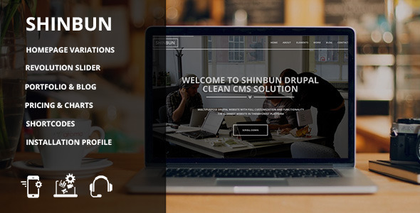SHINBUN - A multipurpose Drupal 7 template - Creative Drupal