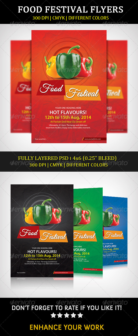 GraphicRiver Food Festival Flyer 8547826