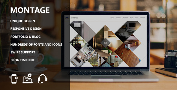 Montage - Clean HTML Showcase Site - Creative Site Templates