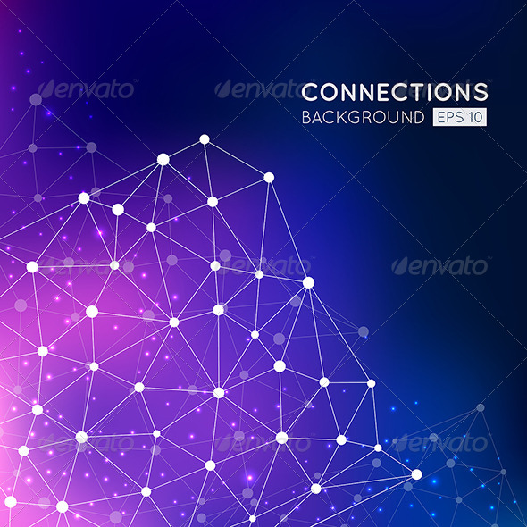 GraphicRiver Abstract Connection Points Background 8552066