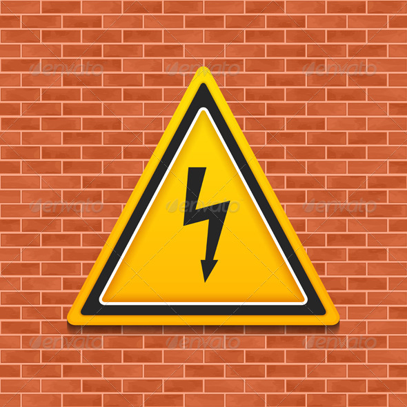 GraphicRiver High Voltage Sign 8552137