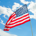 USA flag waving on blue sky background - 1 to 1 ratio - PhotoDune Item for Sale