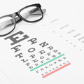 Studio shot of eyesight test chart with glasses over it - PhotoDune Item for Sale