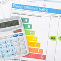Calculator with energy efficiency chart  - 1 to 1 ratio - PhotoDune Item for Sale