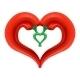 Chili Pepper Heart. Passion and Love Symbol - GraphicRiver Item for Sale
