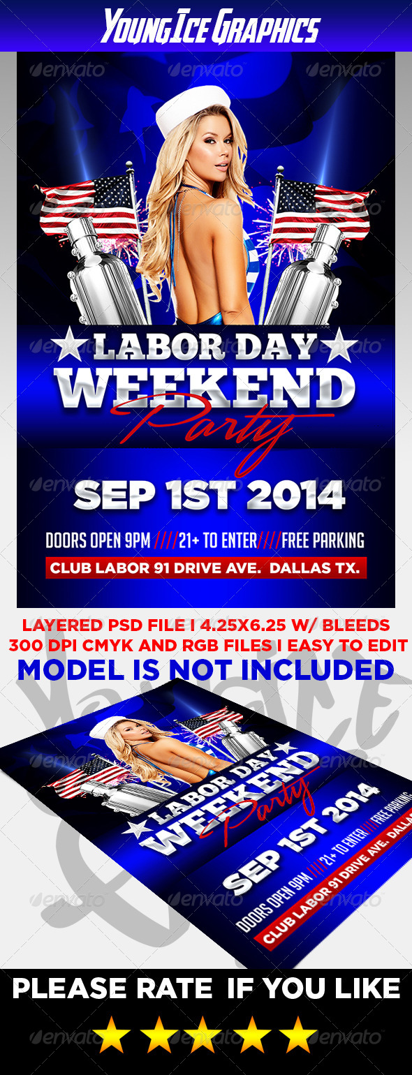 GraphicRiver Labor Day Party Flyer 8547480