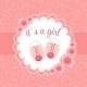 Vector Illustration of Pink Baby Shoes for Newborn - GraphicRiver Item for Sale