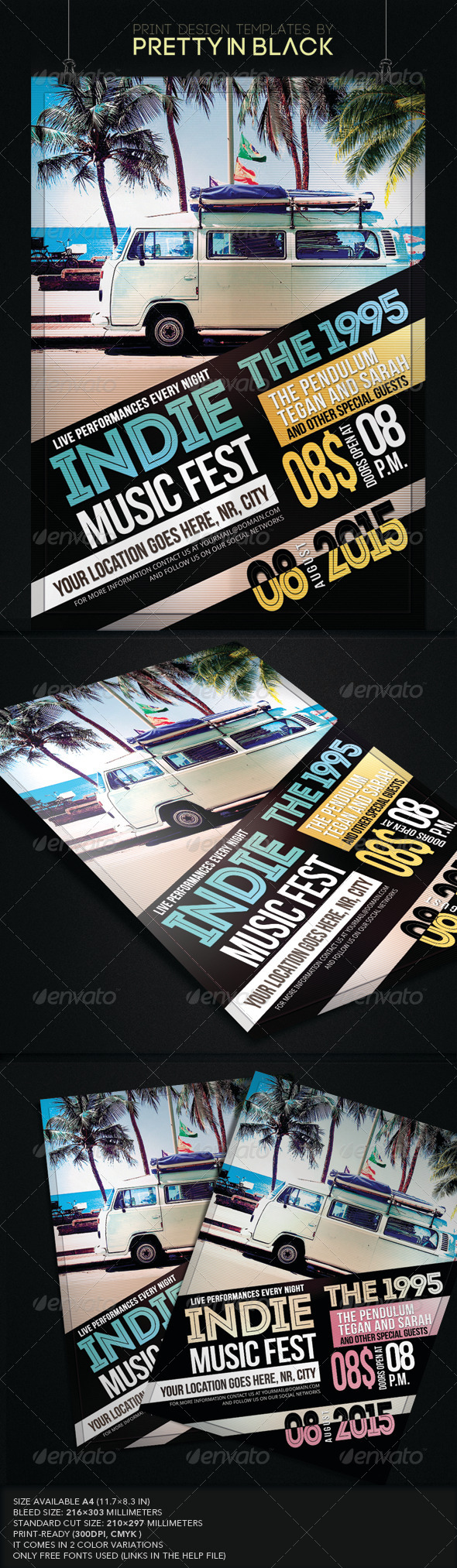 GraphicRiver Indie Rock Music Flyer 8544772