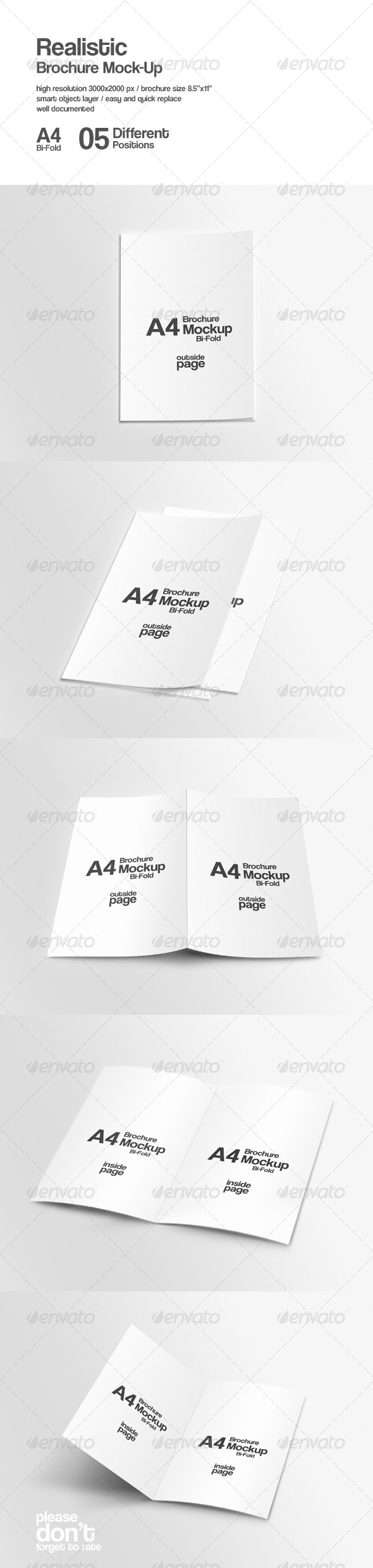 GraphicRiver A4 Bi-Fold Brochure Mock-Ups 8553102