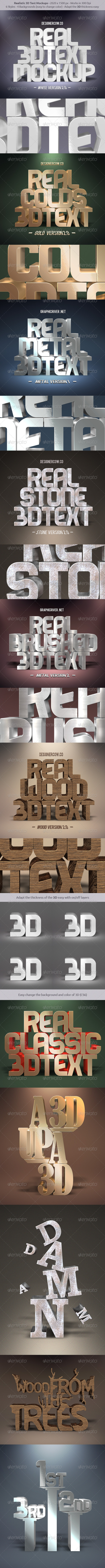 GraphicRiver Real 3D Text Mockups 8553107
