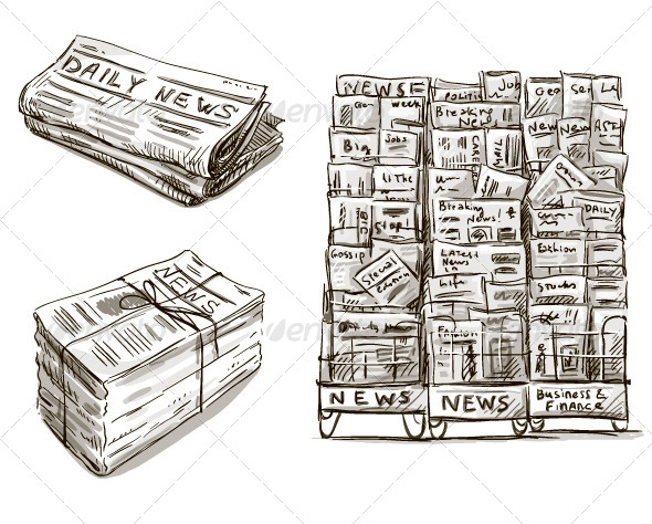 GraphicRiver Press Newspaper Stand 8553497