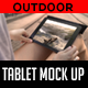 Outdoor Tablet Mock Up - GraphicRiver Item for Sale