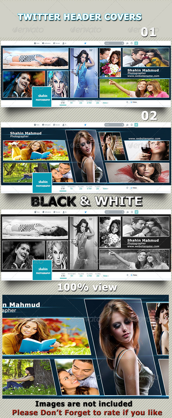 GraphicRiver Twitter Header Covers 8553651