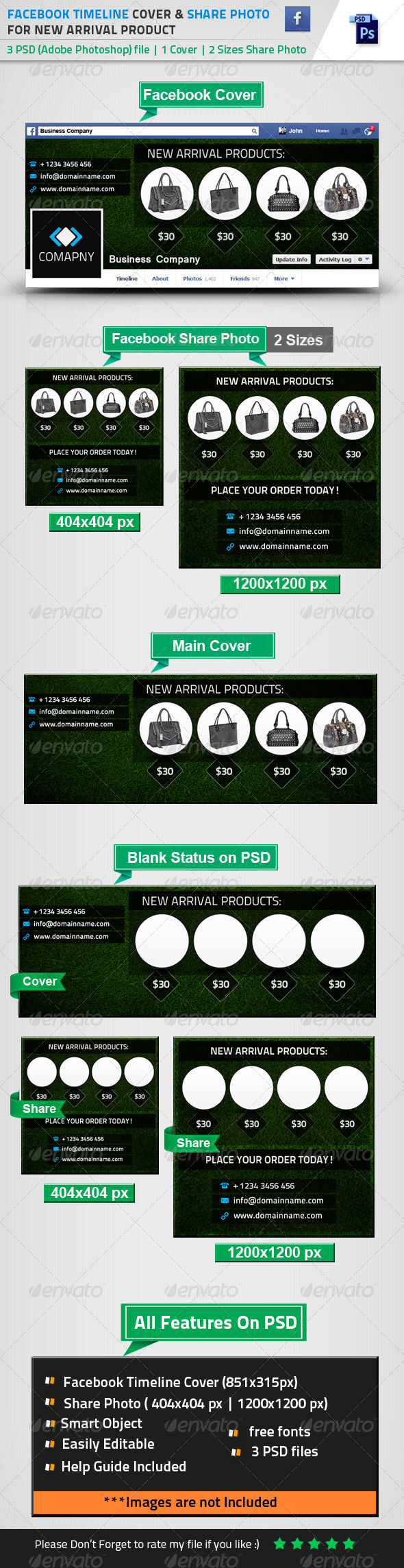 GraphicRiver FB Cover & Share Photo For New Arrival Products 8553724