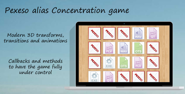 CodeCanyon Concentration Game Pexeso 8489414