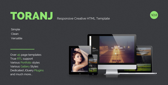 Toranj - Responsive Creative HTML Template