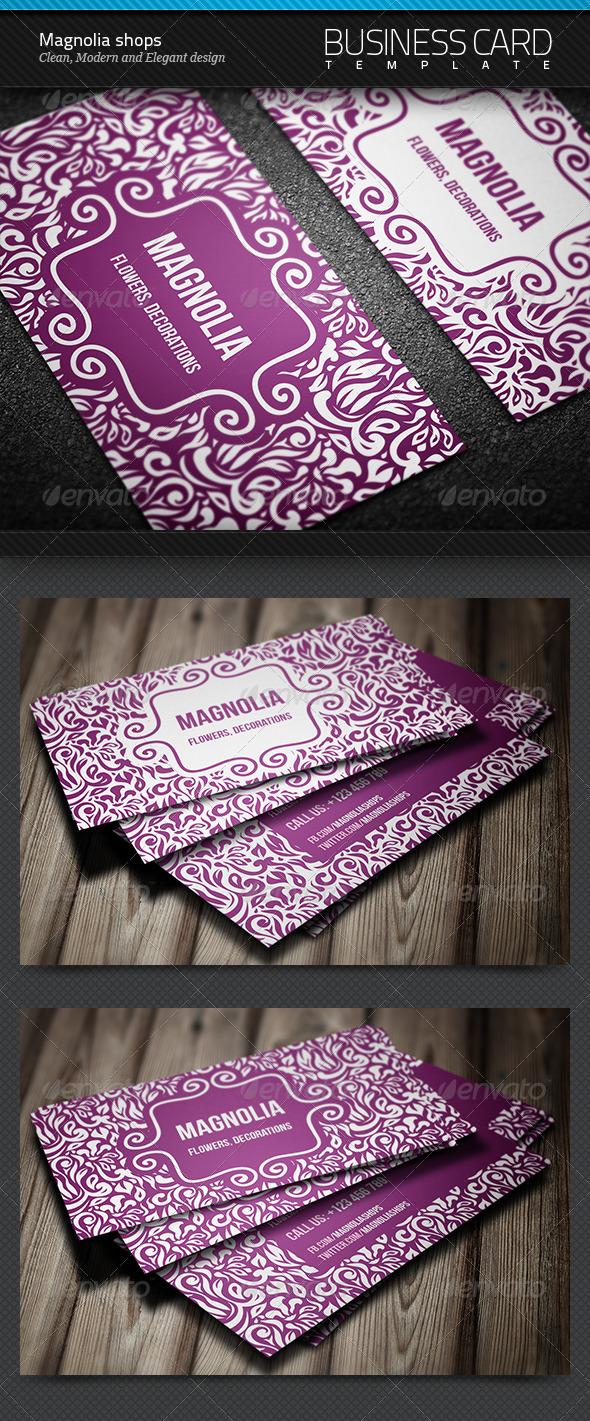GraphicRiver Magnolia Shops Business Card 8553775