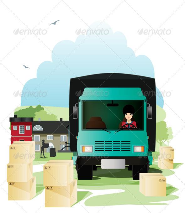 GraphicRiver Cargo Truck 8557368