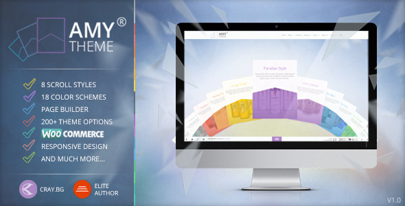 ThemeForest AMY Theme Creative Multi-Purpose WordPress Theme 8557370