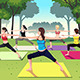 Group of Women doing Yoga in the Park - GraphicRiver Item for Sale