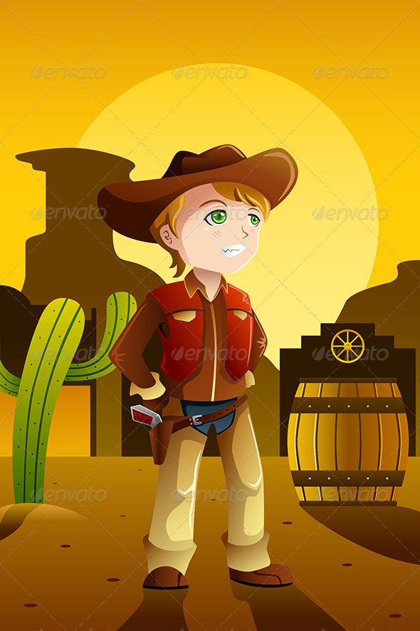 GraphicRiver Boy Dressed up as a Cowboy 8557529