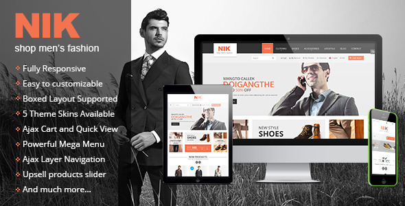 ThemeForest Nik Responsive Magento Fashion Theme 8557614