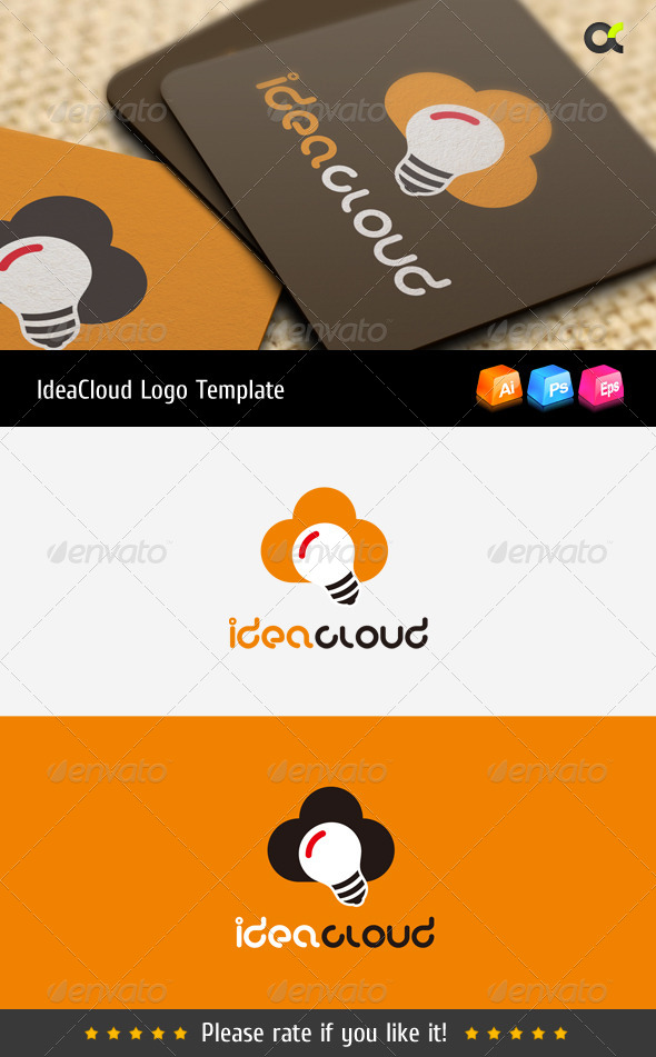 GraphicRiver Idea Cloud Logo Template 8557620