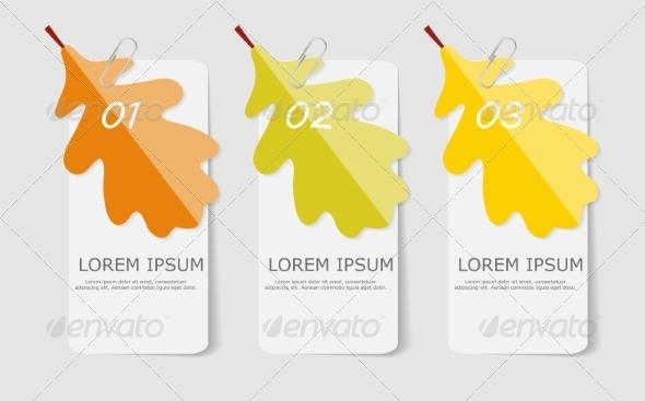 GraphicRiver Autumn Leaves Infographic Templates for Business 8557795