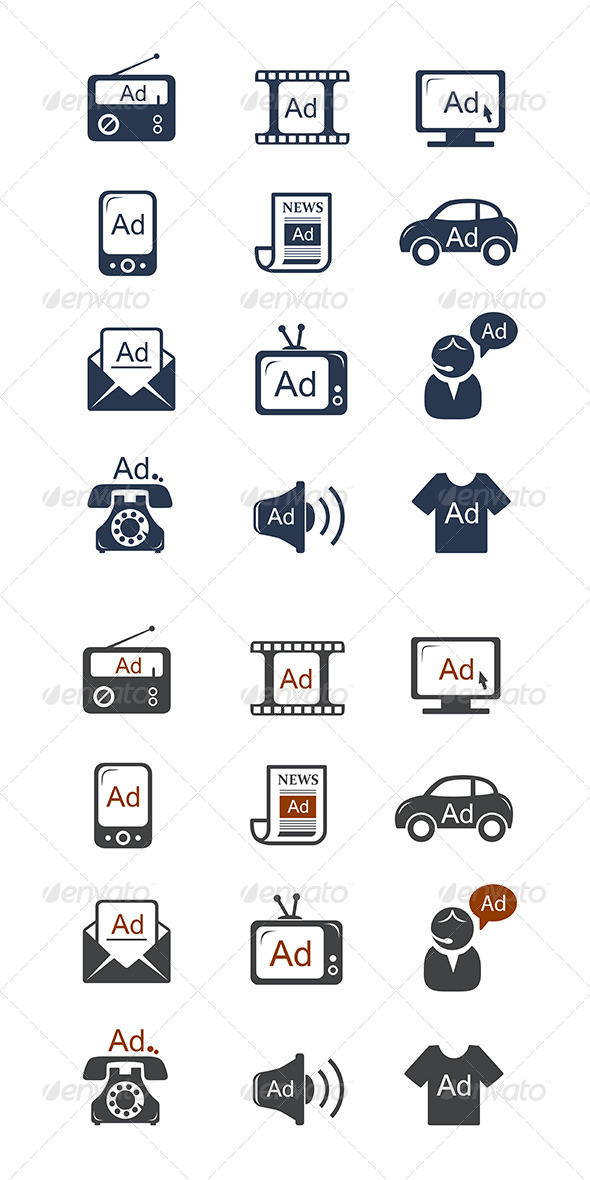 GraphicRiver Advertisement Icons Set 8557809
