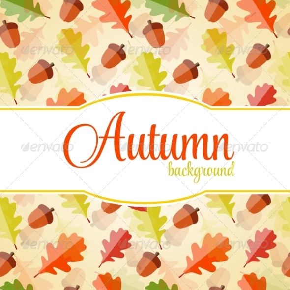 GraphicRiver Shiny Autumn Natural Leaves Background 8557814