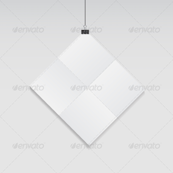 GraphicRiver White Blank Page with Clip Vector Illustration 8557822
