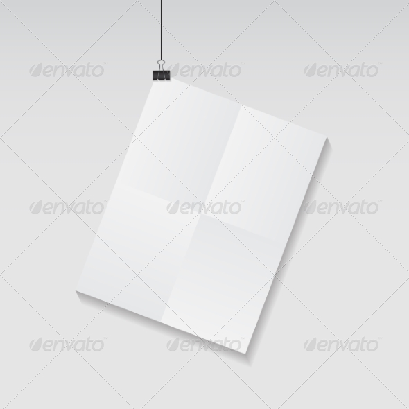 GraphicRiver White Blank Page with Clip Vector Illustration 8557823