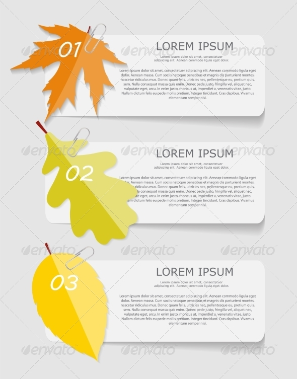 GraphicRiver Autumn Leaves Infographic Templates for Business 8557869