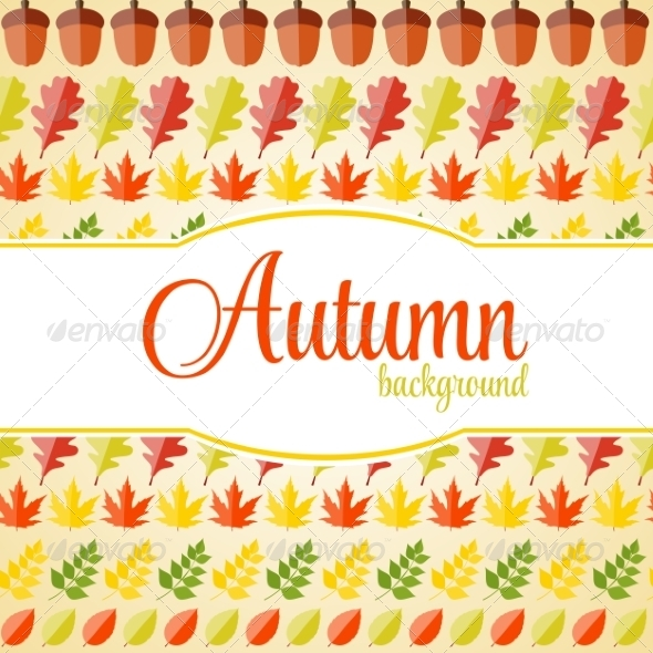 GraphicRiver Shiny Autumn Natural Leaves Background 8557871