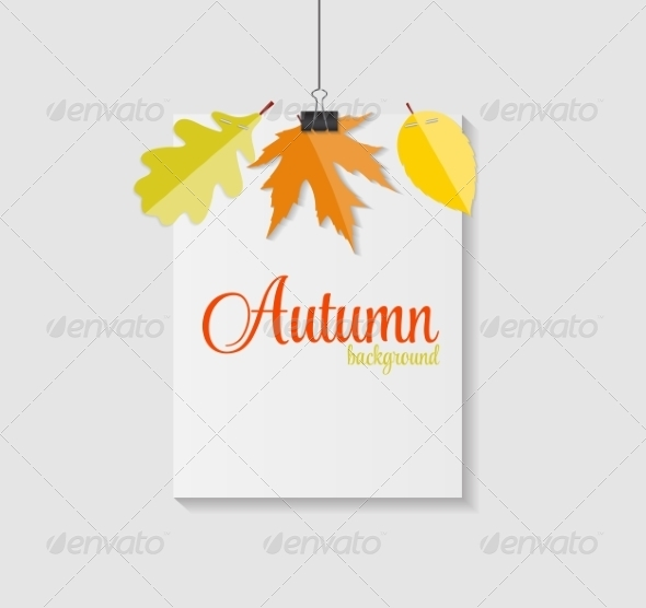 GraphicRiver Shiny Autumn Natural Leaves Background 8557873