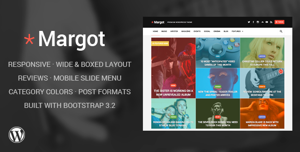 ThemeForest Margot Responsive WordPress News Theme 8557874