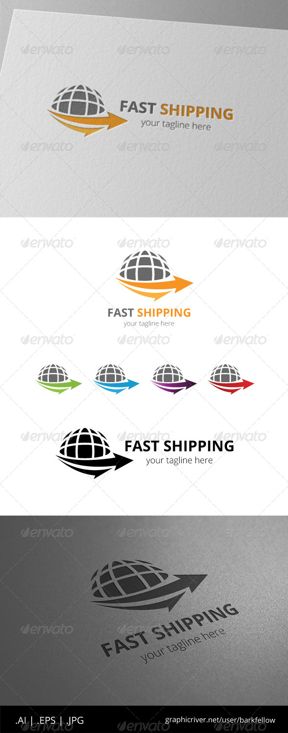 GraphicRiver Global Arrow Shipping Logo 8557884