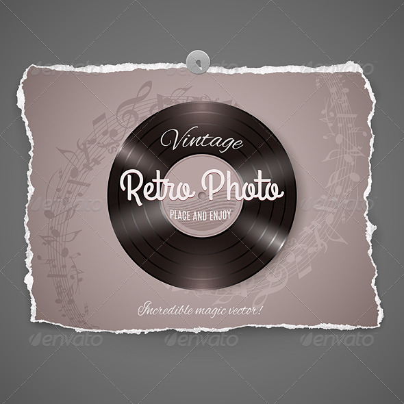 GraphicRiver Vintage Vinyl Music Illustration 8557889