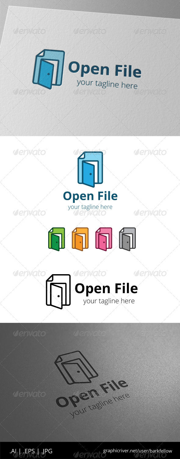 GraphicRiver Open Door File Document Logo 8557893