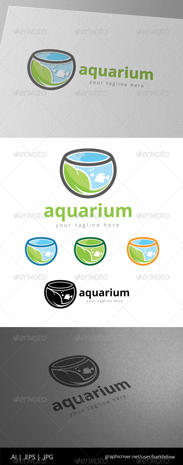 GraphicRiver Green Aquarium Fish Logo 8558062
