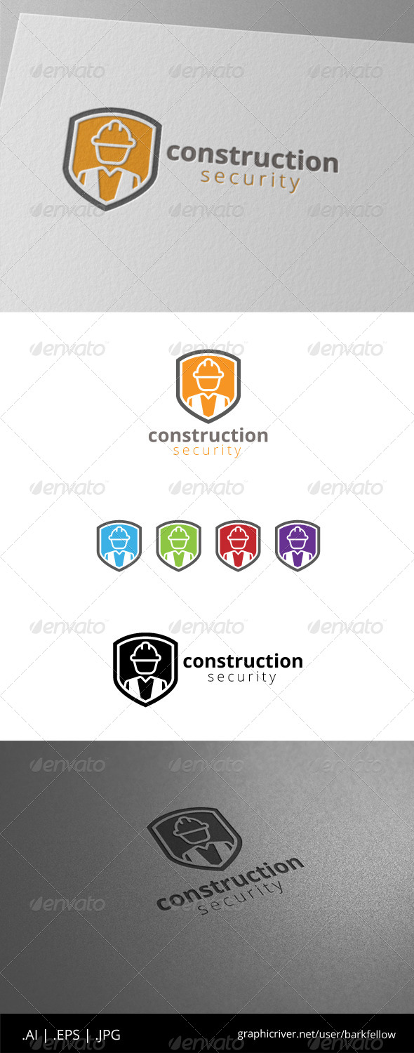 GraphicRiver Construction Security Builder Logo 8558068