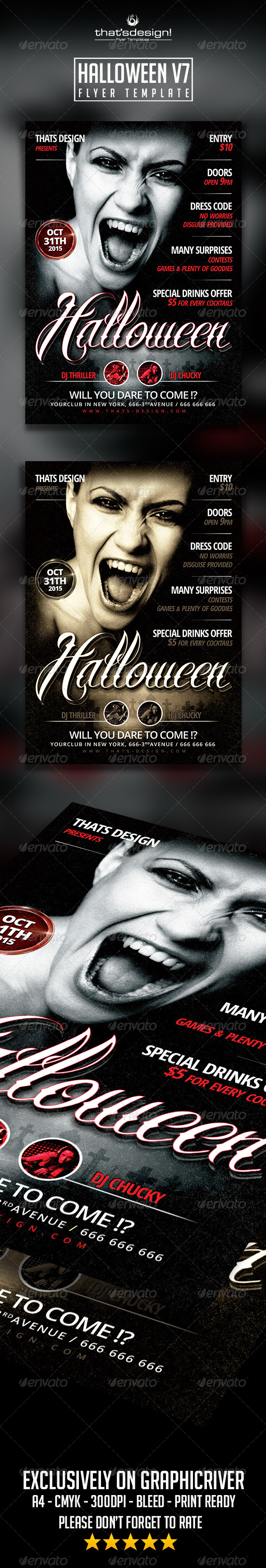 GraphicRiver Halloween Flyer Template V7 8558179