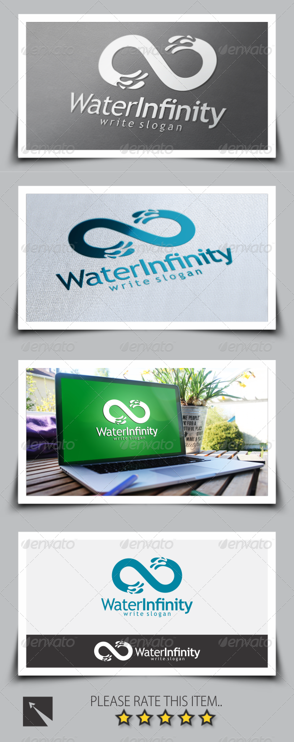 GraphicRiver Water Infinity Logo Template 8547276