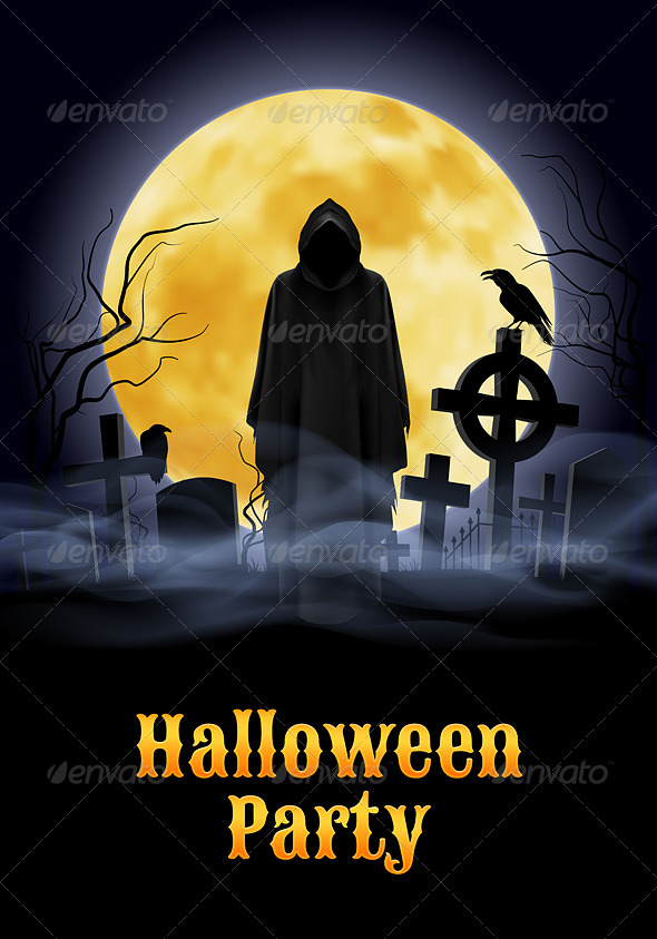 GraphicRiver Halloween Party Illustration 8558196